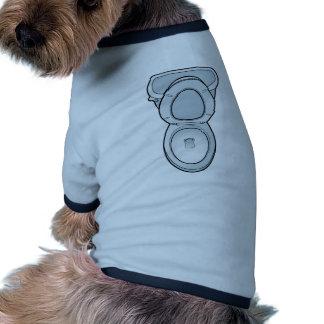 Arte del retrete del cuarto de baño camiseta con mangas para perro