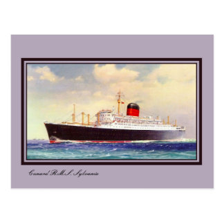 Arte del RMS Sylvania del vintage Postal