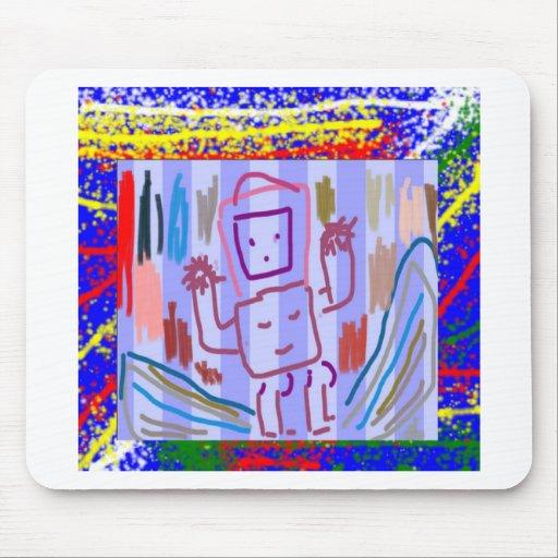 ARTE del ROBOT de los NIÑOS Alfombrillas De Ratón