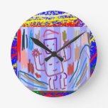 ARTE del ROBOT de los NIÑOS Relojes De Pared