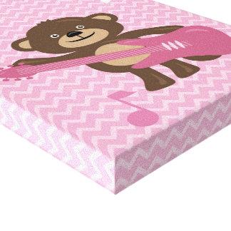 Arte del rosa del mono de Rockin y de la pared de