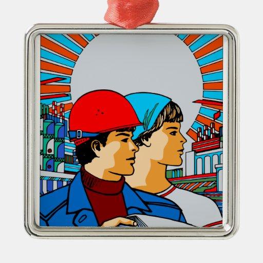 Arte del ruso del vintage ornamento para arbol de navidad