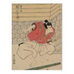 Arte del samurai de Japón circa 1800s Postales
