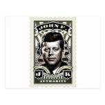 Arte del sello del vintage de John F. Kennedy Tarjeta Postal