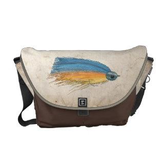 Arte del señuelo de la pesca con mosca bolsa messenger