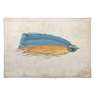 Arte del señuelo de la pesca con mosca manteles