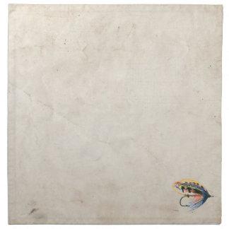Arte del señuelo de la pesca con mosca servilletas de papel
