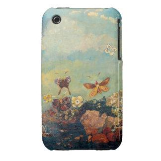 Arte del simbolismo del vintage de las mariposas iPhone 3 Case-Mate protector