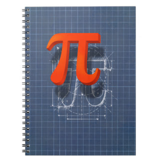 Arte del símbolo del pi cuaderno