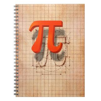 Arte del símbolo del pi libreta