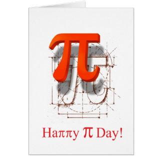 Arte del símbolo del pi, día feliz del pi tarjetas