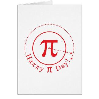 Arte del símbolo del pi, día feliz del pi tarjeta
