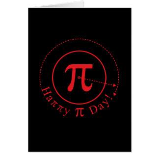 Arte del símbolo del pi, día feliz del pi felicitacion