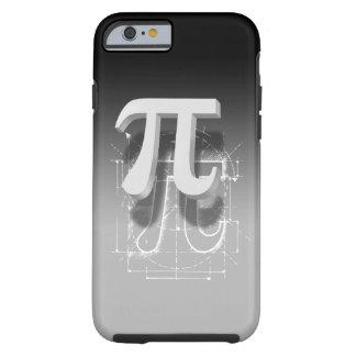Arte del símbolo del pi funda de iPhone 6 tough