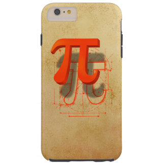Arte del símbolo del pi funda para iPhone 6 plus tough