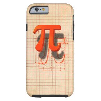 Arte del símbolo del pi funda para iPhone 6 tough