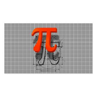 Arte del símbolo del pi, instrucción de la tarjeta de visita