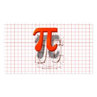 Arte del símbolo del pi, instrucción de la tarjetas de visita