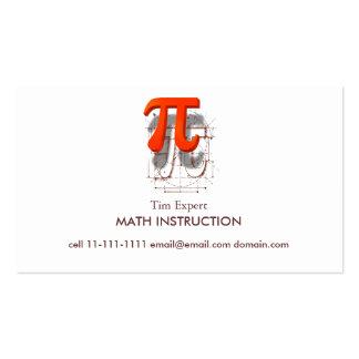 Arte del símbolo del pi, instrucción de la plantillas de tarjeta de negocio