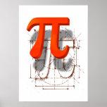 Arte del símbolo del pi poster