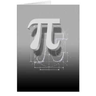 Arte del símbolo del pi felicitación