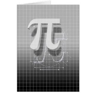 Arte del símbolo del pi tarjeta