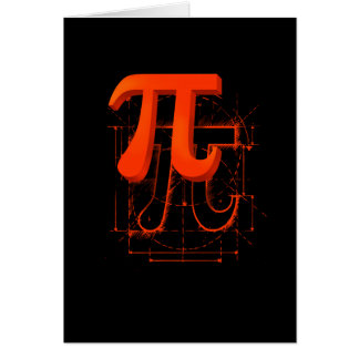 Arte del símbolo del pi tarjetón