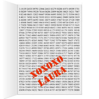 Arte del símbolo del pi tarjetas
