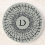 Arte del Spirograph del monograma Posavasos Personalizados