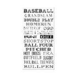 Arte del subterráneo del béisbol lona estirada galerias