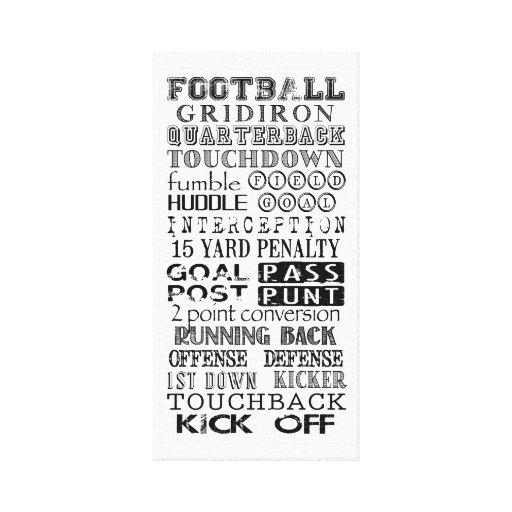 Arte del subterráneo del fútbol impresión en lona estirada
