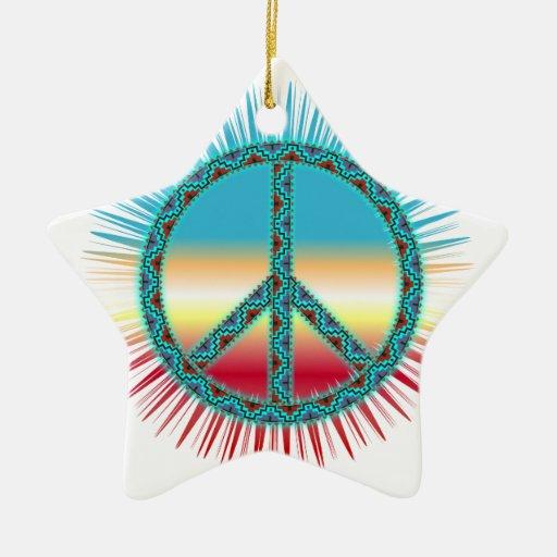 Arte del sudoeste del símbolo de paz ornamentos para reyes magos