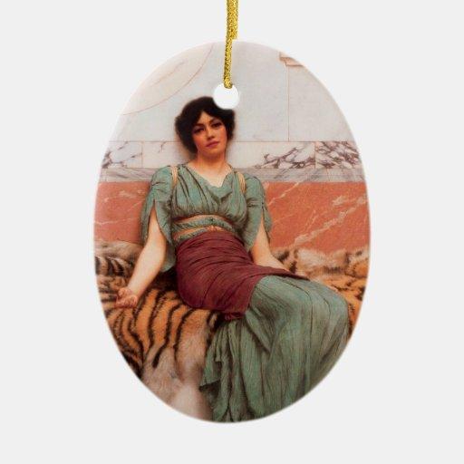 Arte del sueño dulce adorno ovalado de cerámica