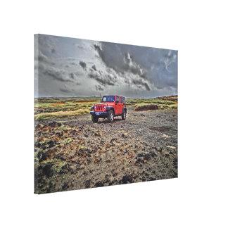 Arte del sur de la lona de la aventura del jeep de lona estirada galerias
