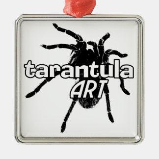 Arte del Tarantula Adorno Navideño Cuadrado De Metal