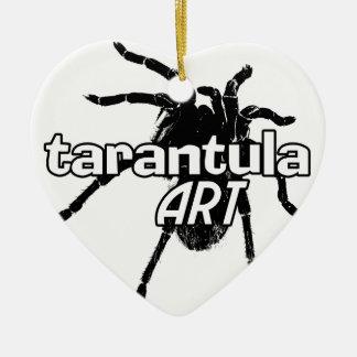 Arte del Tarantula Adorno Navideño De Cerámica En Forma De Corazón