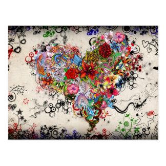 Arte del tatuaje del corazón tarjetas postales