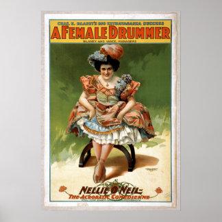 """""""Arte del teatro del vintage 'un batería de sexo f Póster"""