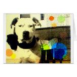 arte del terrier del pitbull/del amstaff del vinta tarjetas
