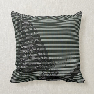 Arte del texto de la mariposa de monarca cojines