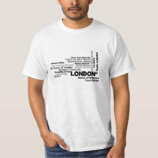 Arte del texto de Londres Playera