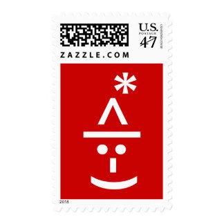 Arte del texto de Navidad ASCII del Emoticon del Sello Postal