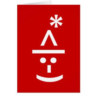 Arte del texto de Navidad ASCII del Emoticon del Tarjeta De Felicitación