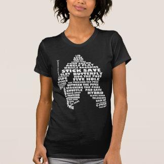 Arte del texto del portero del hockey (blanco) camiseta