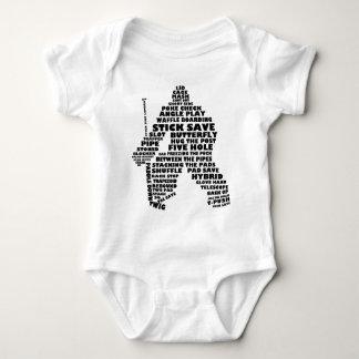 Arte del texto del portero del hockey body para bebé