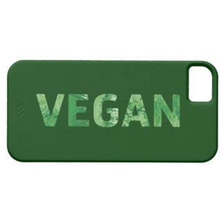 Arte del texto del vegano - cita feliz funda para iPhone SE/5/5s
