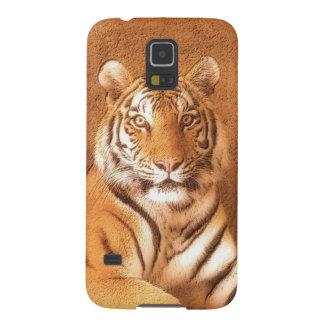 Arte del tigre siberiano - caja de la galaxia S5 Carcasas De Galaxy S5