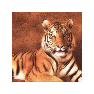 Arte del tigre siberiano - lona impresión en lona