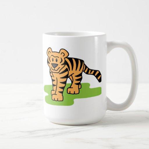 Arte del tigre taza clásica