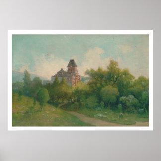 Arte del tocino y edificio de biblioteca Uc Berke Impresiones